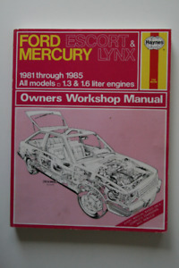 FORD Escort MERCURY Lynx 1981-1985 Workshop Manual Haynes