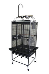"24"" X 22"" Parrot Bird Cage with Play Top and Toy Hanger"