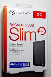 Seagate Backup Plus Slim**** 2TB  Portable Drive BRAND NEW