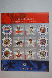 2001 NHL All-Star Souvenir Sheet Canadian Stamps