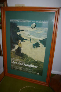 Rare Framed MGM Orig.Irish Movie Poster  Ryan's Daughter Reduced