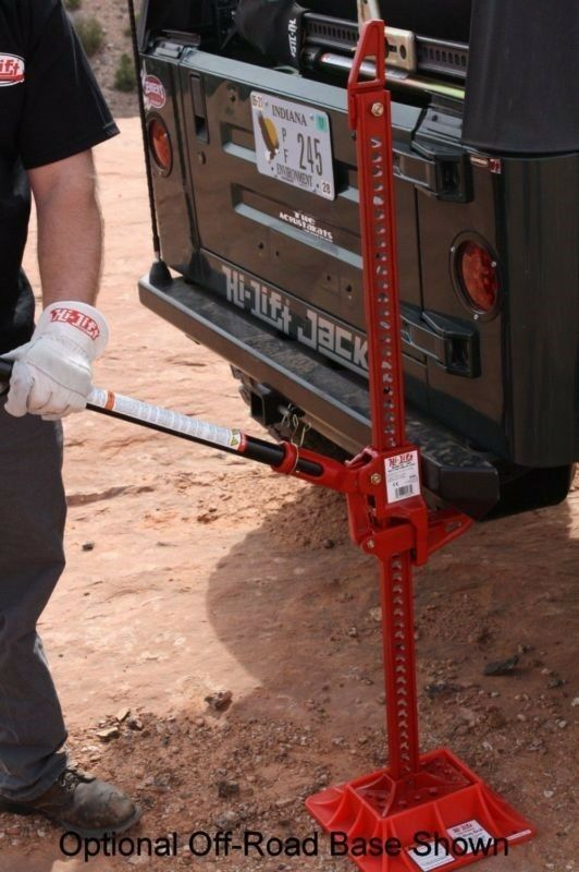 High lift jacks help raise your lifted truck or jeep