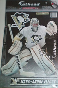 Pittsburgh Penguins Hoodie and Marc-Andre Fleury Fathead Decal London Ontario image 2