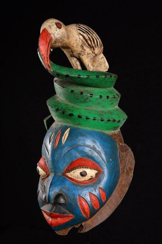 11681 An Old African Gelede Helmask Nigeria