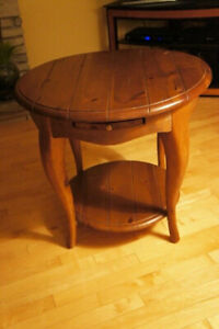 Schnadig Solid Wood Side Table