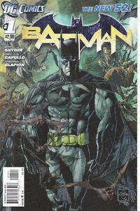 Misc New 52 #1 comics including Batman #1 and #1A Peterborough Peterborough Area image 2