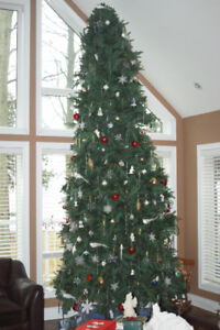 12 foot Christmas tree with 1300 lights