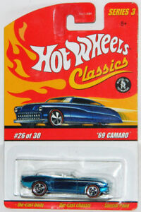 Hot Wheels Classics 1/64 '69 Camaro Convertible Diecast Car