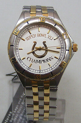 Indianapolis Colts Super Bowl Xli Watch Gold Logo Mens Game Time  New
