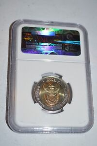 2008 NGC Graded Five Rand South African Nelson Mandella Coin Peterborough Peterborough Area image 2