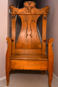 Antique Hall Chair/Stand