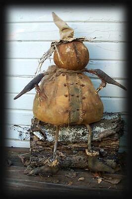 P~R~I~M~I~T~I~V~E  Autumn Pumpkin Man ~ Primitive Fall & Halloween Pattern](Halloween Iv)