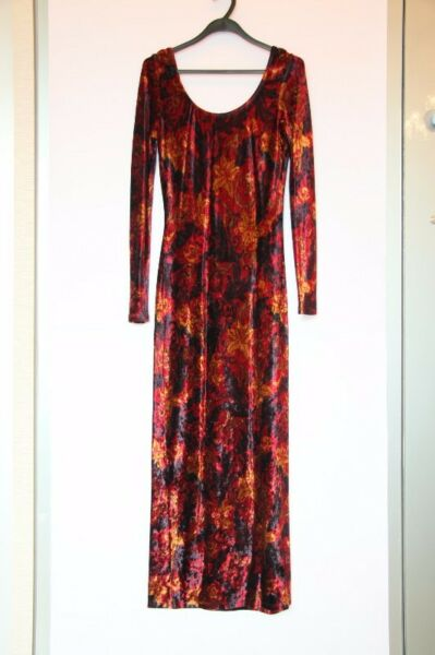MONSOON TWILIGHT Velvet Evening Gown (size 12) - Red and Blue