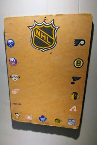 NHL vintage cork bulletin board, early 70s