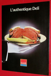 1989 COORSH MEATS AD WITH SMOKE MEAT SANDWICH - RETRO ANONCE