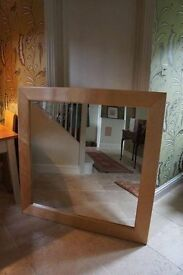 A Lovely Large CONRAN Wall Mirror. Solid Maple. Square Mirror. 120cm. Solid Wood. + I CAN DELIVER