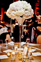 "24"" martini glass vase centrepiece 10"" opening $24"