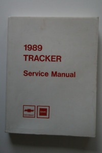 CHEVROLET GMC Tracker 1989 Service Manual