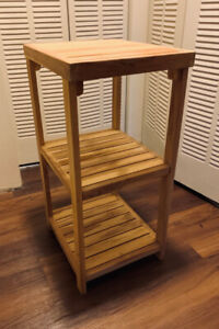 3-Tier Wooden End-Table/Shelf/Nightstand