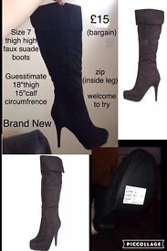Knee/thigh height boots. RRP: £49.99