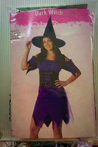 Adult ladies size small Dark Witch costume