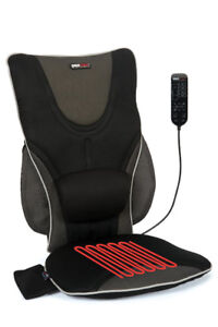 ObusForme Backrest Support Massage Cushion with Heat AC/DC Power