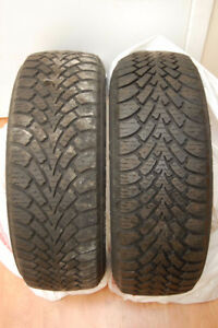 Two 205/55R16 GoodYear Nordic Winter