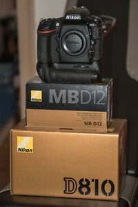 Nikon d 810 and mbd12 grip