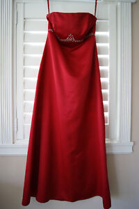 Strapless Red Gown