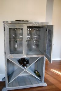 Wine Cabinet wooden Rustic Style