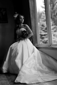 A-line ball gown by Allure bridal with pockets