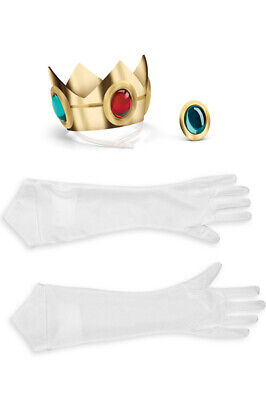 Brand New Super Mario Brothers Princess Peach Adult Accessory Kit
