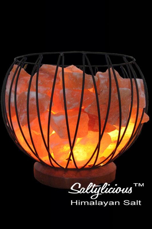 Himalayan Salt Lamp Caged Fire Bowl