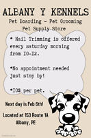 Nail Trimming CANCELLED! Rescheduled Feb 13th!