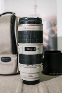 Canon EF 70-200mm f/2.8L IS II USM Lens + Hoya UV Filter