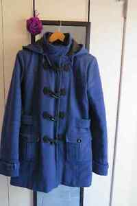 Women's Size Small Blue Winter Toggle Jacket
