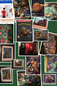 Ninja Turtles complete bed decor and bedding room makeover
