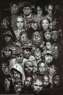 Rap Gods (Rapper Collage) Music Poster Print Collections Poster Print, 24x36