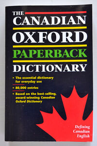 The Canadian Oxford Paperback Dictionary (Paperback)