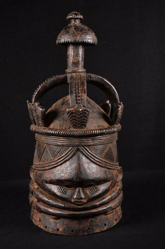 14000 An Old African Mende Helm Mask Burkina Faso