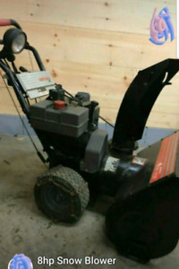 """8 HP 25"""" CUT SNOW BLOWER FOR SALE"""