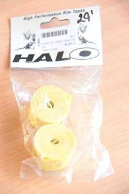Neuf : Pour Velo / Vtt > Fond De Jante Halo , Jaune, En 24 X 20mm - La Paire.