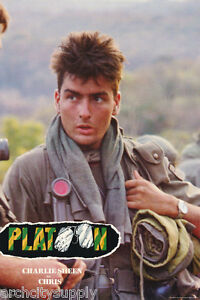 POSTER-MOVIE-REPRO-PLATOON-1986-CHARLIE-SHEEN-FREE-SHIPPING-LW1-G