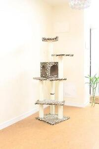 New-Leopard-Skin-60-Cat-Tree-Condo-Furniture-Scratch-Post-Pet-House