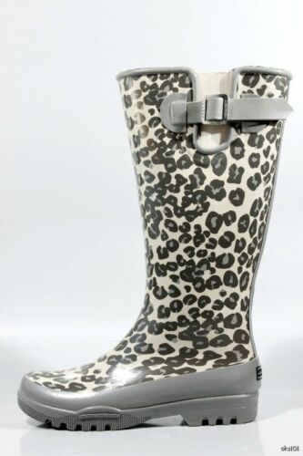 Sperry Top-sider 'pelican' Gray Leopard Rain Boots 5 - Gorgeous