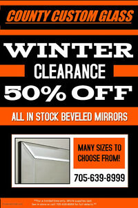 CLEARANCE BEVELED MIRRORS Kawartha Lakes Peterborough Area image 1