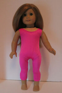 American Girl Doll Clothes Hot Pink Leotard Bodysuit