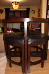 Pub Table with Four Stools