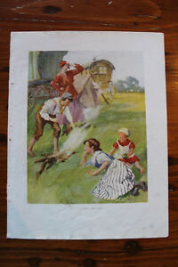 Lot #1 Children Prints Out of Old Books - Great For Framing
