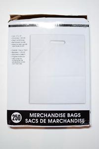 Plastic merchandise bags